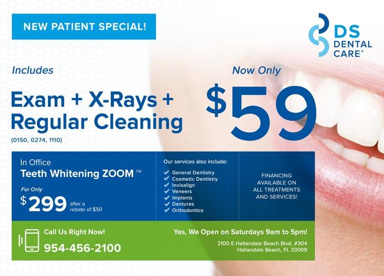 Teeth Whitening Special - DS Dental Care - Hallandale Beach, Florida.
